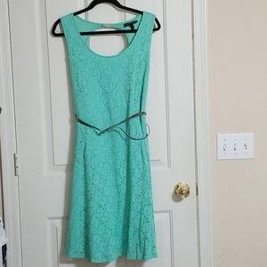 Lane Bryant Size 24 Mint Skater Dress